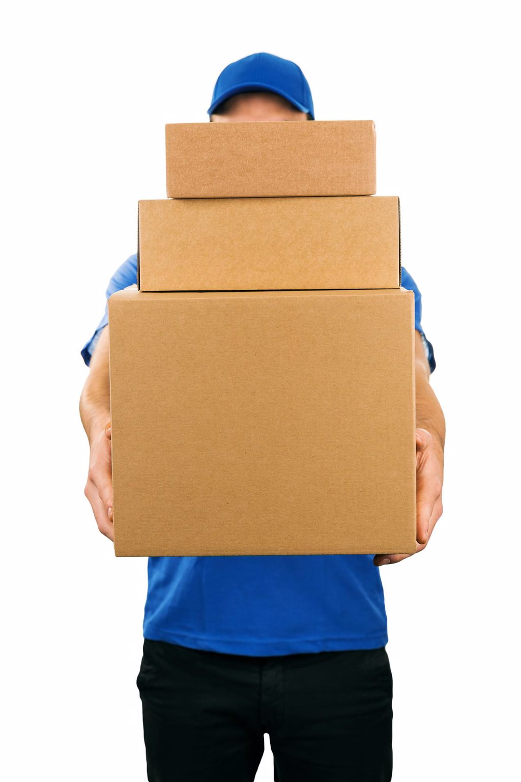 Person Holding Boxes